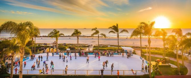 Hotel Del Coronado Christmas Skating by the Sea