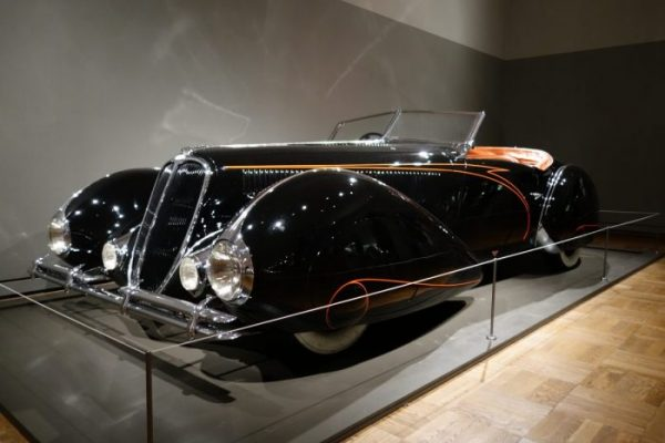Portland Art Museum: Shape of Speed Delahaye 135M Roadster