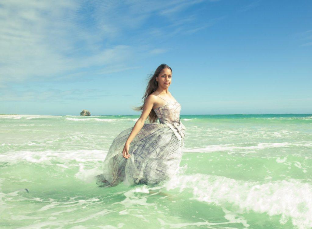 Zuhal Kuvan-Mills fashions at Eco fashion week Australia