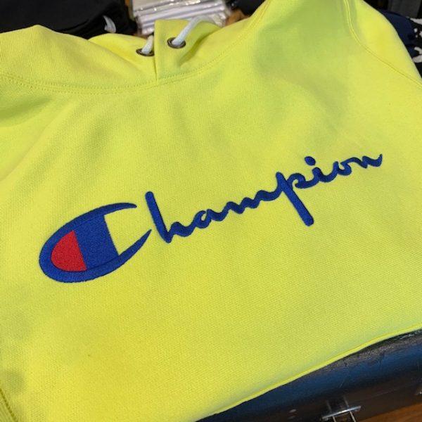 Champion Logo on hoodie