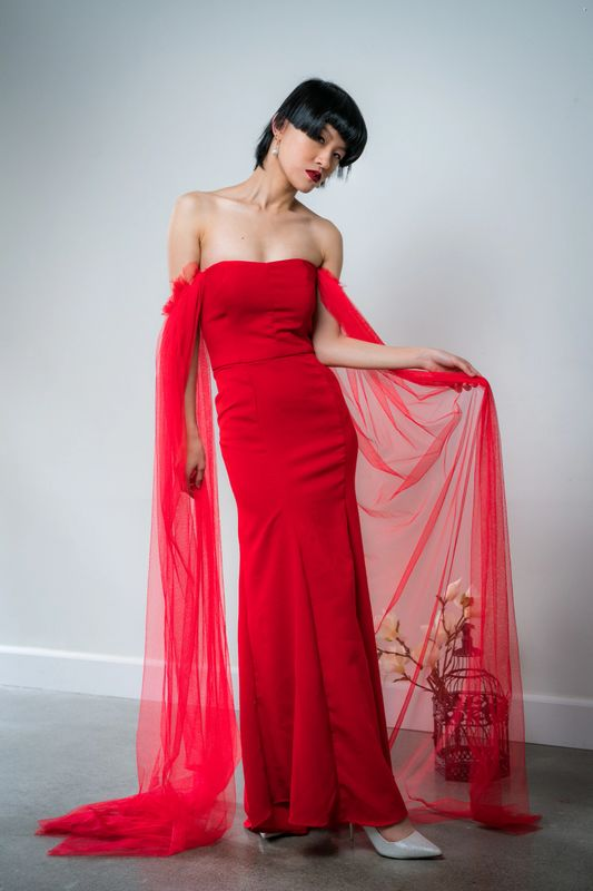 Theresa Chen custom bridal special occasion dresses
