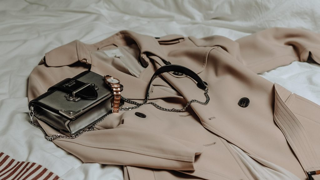 Luxury spring runway shows trench coat